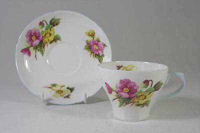 Shelley Art Deco Hand Painted Begonia Floral Tea Set Fine Bone China England