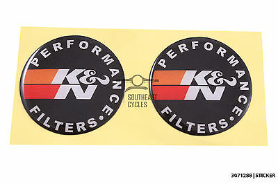 K&N performance air filter reflective domed sticker decal for Motorbike  *Gel