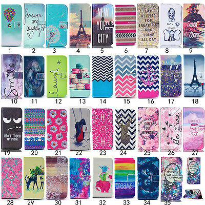 Luxury Pattern Flip Stand Magnetic Wallet Leather Case Cover for iPhone Skins