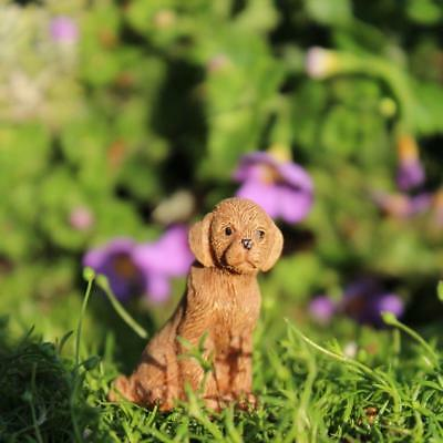 "1.25"" My Fairy Gardens Tiny Ginger the Puppy - Micro Mini Resin Dog Figurine"