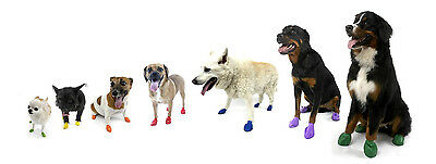PAWZ Rubber Waterproof Dog Boots - 12 Disposable Boots Small Size, Red