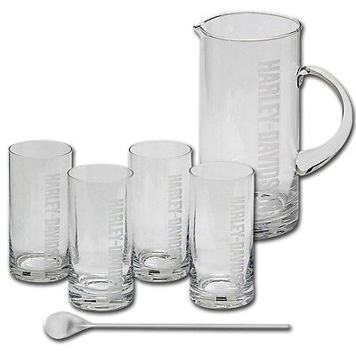 Harley Davidson  Pitcher & Glass Set
