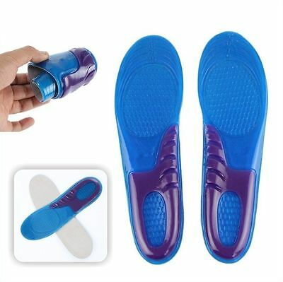 New Male Orthotic Foot Sole Arch Support Massaging Gel Silicon Sport Insole