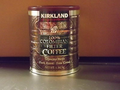 Kirkland Signature 100% Colombian Filter Coffee Supremo Dark 1.362kg x 1