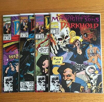 Lot of 4 Darkhold: Pages From the Book of Sins #1 2 5 6 (1992, Marvel)