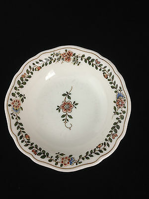 Gorgeous Vintage Antique Meissen Hand Painted Trinket Bowl Dish With Flowers