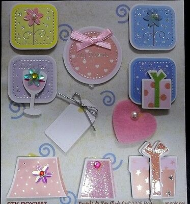 FRIENDS & FUN* Royal & Langnickel - 3D Christmas Sticker Embellishments