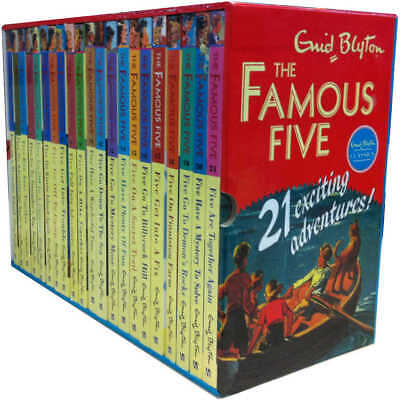 Famous Five Complete 21 Books Collection by Enid Blyton Paperback Children Set