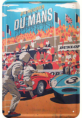 24 Heures Du Mans Deko Motiv Blechschild Replik Tin Sign