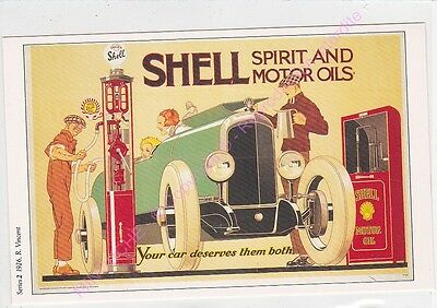 Cp Postcard Affiche Ads Shell Oil Spirit And Motor Oils