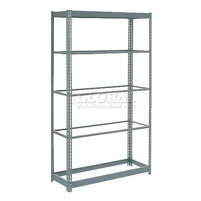 "Heavy Duty Shelving 36""W x 24""D x 72""H With 5 Shelves, No Deck"