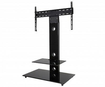 "Gloss Black TV Stand Cantilever With TV Wall Bracket for 32 - 55"" inch LCD LED"