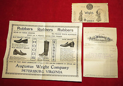 Wright's High Art Shoes Letter Ad Invoice Circa 1909