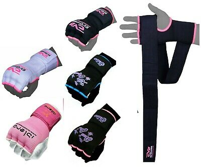 EVO Ladies MMA Gel Inner Gloves Boxing Hand Wraps Body combat martial Arts strap