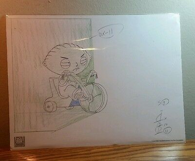 "Family Guy Exclusive Edition ""stewie On Tricycle"" Lithograph Print (2005/coa)"