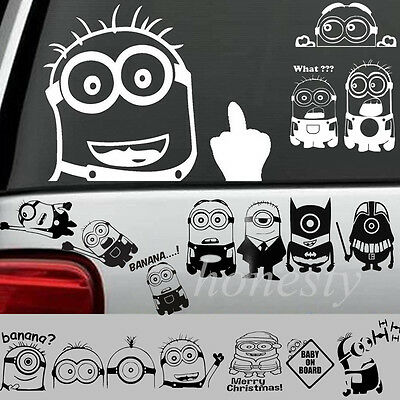 Small Yellow Boy Vinyl Sticker Decal Car Auto Window Wall Halloween Decor