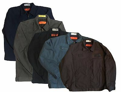 Red Kap Men Slash Pocket Technician Jacket Black Navy Charcoal Brown Green JT22