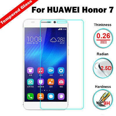 9H Premium Real Tempered Glass Screen Protector LCD Film For Huawei Honor 7