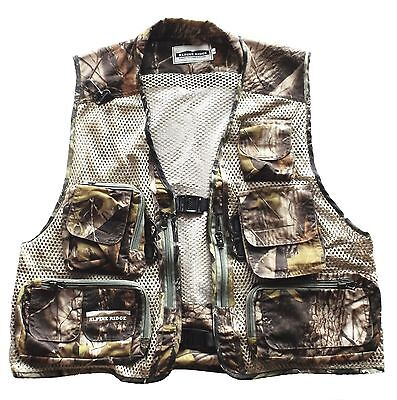 Camo hunting vest with removable back and multi pockets