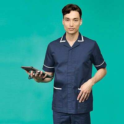 Mens Healthcare/Hospital Carers Tunic Sizes Small - 3Xl Navy  Bnwt Free P&P