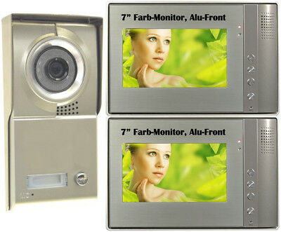 "Video Door Phone Türsprechanlage 1 Familienhaus 2x7"" TFT LCD Sprechanlage G"