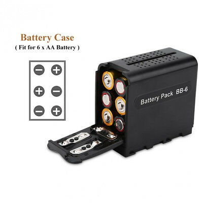 BB-6 6pcs AA Battery Case Pack as NP-F970 for LED VIDEO LIGHT Panels or Monitor