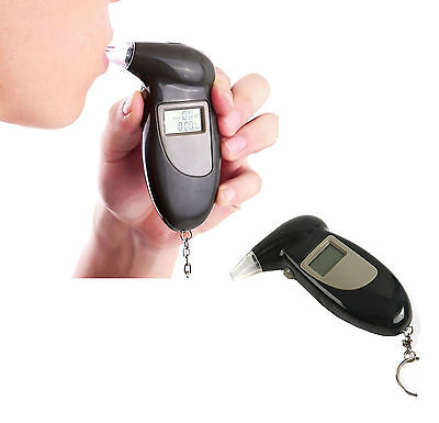 Digital LCD Breath Alcohol Detector Analyzer Breathalyzer Tester Police Test