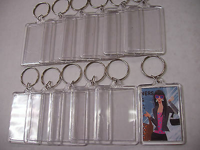 "Lot Of 24 Pcs Blank Photo Frame Key Chain For Photo Size 2"" X 1-3/8"" Booth Promo"