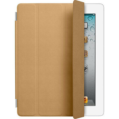 Original Apple Ipad 2,3&4 Smart Cover Leather Tan MD302ZM/A New Sealed