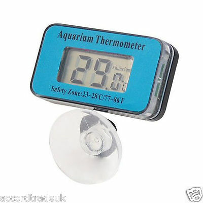LCD Waterproof Fish Aquarium Water Tank Submersible Tempe Thermometer Meter UK