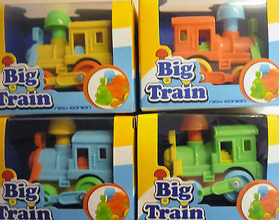 Big Train Push Along Steam Engine Toy Train (Yellow, Blue, Green or Orange)