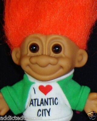 "I LOVE ATLANTIC CITY Russ Troll Doll 5"" EXCELLENT NEW IN BAG"