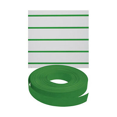 New Retails Green Vinyl Finished Slatwall Insert 130'Length