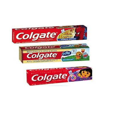 3x, 12x or 24x Colgate My First 45g, Dora 80g or Spiderman 110g Toothpaste Tubes
