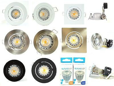 5 x 10w LED COB Dimmable Pack of Downlight Gimble Fixed LED Downlight GU10 240v