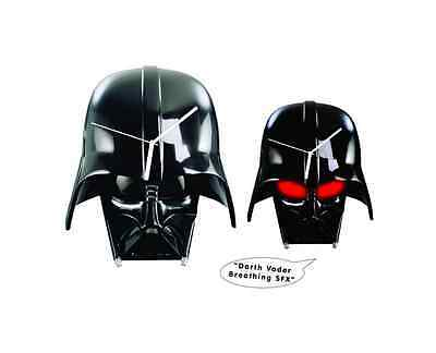 Star Wars 3D Darth Vader Helmet Clock infamous mechanical breathing sound effect