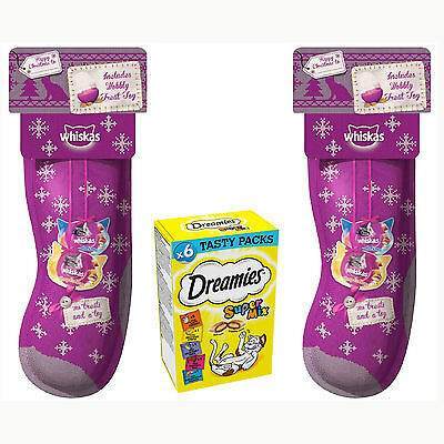 Whiskas Christmas Cat Stocking X 2 And Dremies Supermix Pack X 1