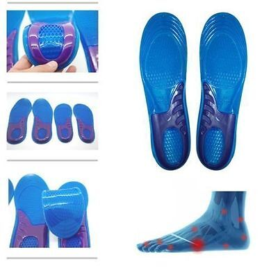 Female Orthotic Foot Sole Arch Support Massaging Gel Silicon Sport Insole
