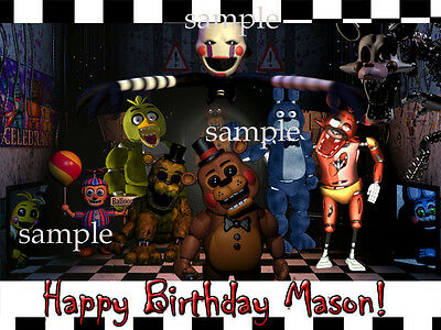 FIVE Nights at FREDDYs Edible ICING Image Birthday CAKE Topper Decoration FNAF 5