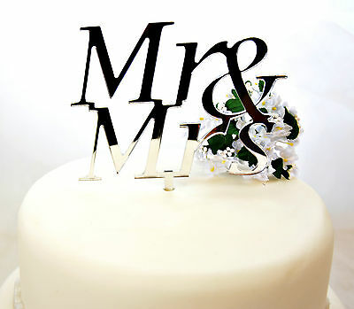 Mr and Mrs Wedding Cake Topper Keepsake Gift Range Of Colours Available