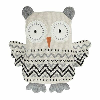 Aroma Home Cute Snuggle Hottie SNOW OWL Knitted Microwavable Scented Body Warmer