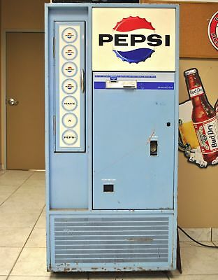Vintage Pepsi Cola Soda Pop Vending Machine Vendorlator