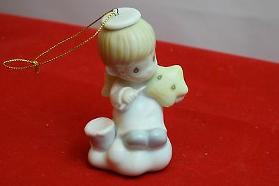 "Precious Moments Ornament, ""Brighten Up"", Angel With Star, 1996, No Box"