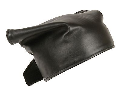 Unisex Leather Bandanna or Neck Warmer Fleece Lined For Motorcycle Riders