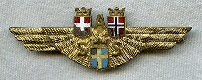 Circa 1946-1947 Scandinavian Airlines System (SAS) Wing by Sporrong