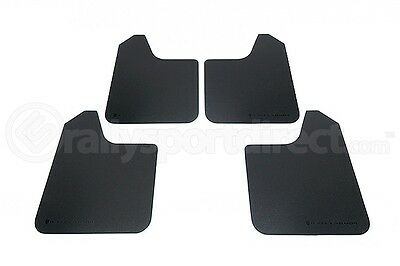 Rally Armor MF12-BAS Basic Universal Mud Flaps Set 4 x Black w/ Black Logo