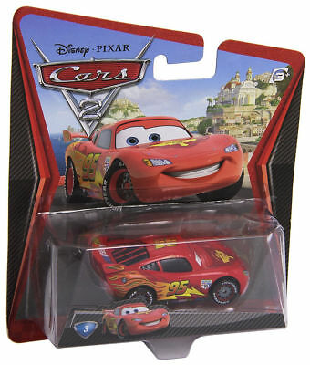 Disney Pixar Cars 2 Movie Die-Cast No. 3 - Lightning Mcqueen. 30314345