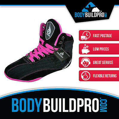 Ryderwear Raptors Black/pink * Bodybuilding Shoes * Gym Training * Hightop