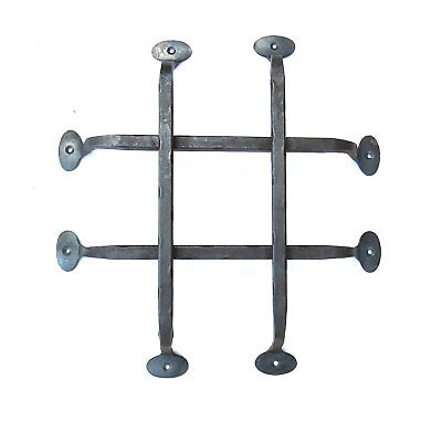 Wrought Iron Door Grill Hand Forged Rustic Antique Metal Decor Grid Front Gate