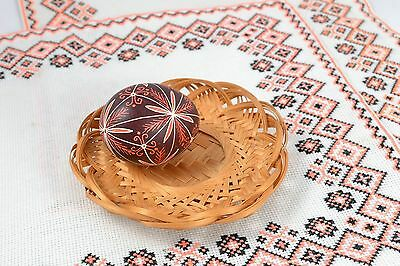 Handmade Painted Ethnic Chicken Egg With Ornaments Interior Decorating Ideas